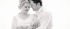 {newborn} Beautiful Couple + Baby photographed in studio with Ana Brandt