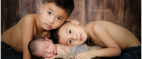 {newborn} Three little boys