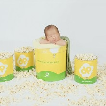 {newborn} Popcorn Baby Boy Franklin and his Family
